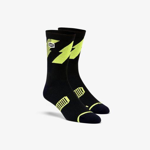 100% Bolt Performance sokken lime geel kopen
